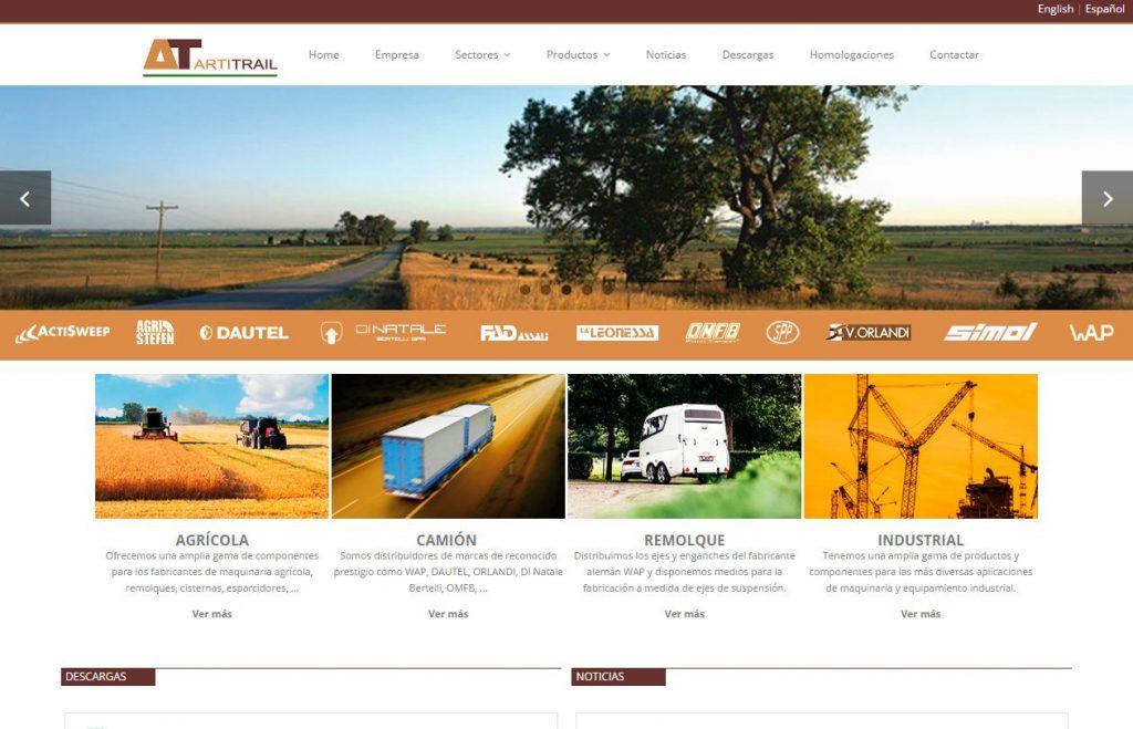 Nueva web de Artitrail hecha por CDCOM
