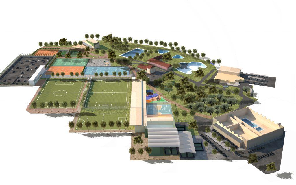 Plano Aéreo centro deportivo