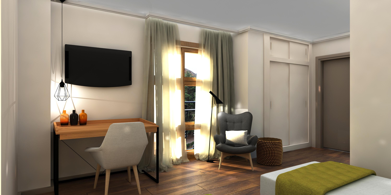 Habitación de estudiante 3D